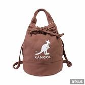 KANGOL 包 兩用尼龍水桶手提包 側背包 咖啡 袋鼠包 - 6925300702