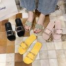 拖鞋女外穿夏天2021新款網紅韓版時尚百搭ins潮可濕水懶人涼拖鞋新品