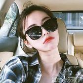 網紅墨鏡潮女新款韓版gm太陽鏡復古原宿風個性街拍黑超偏光鏡-可卡衣櫃