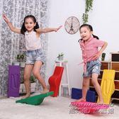 感統訓練器材加寬加厚型兒童平衡板 健身玩具平衡臺木搖滾蹺蹺板