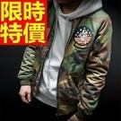 空軍夾克MA1帥氣個性-潮流棒球領勛章軍裝男外套3色63ai16【巴黎精品】