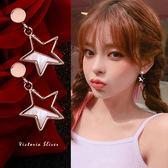 925純銀針  韓國優雅氣質 幾何星星 耳環-維多利亞181164