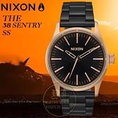 NIXON 實體店THE SENTRY 38 SS潮流腕錶A450-2481公司貨/極限運動/潮流/禮物/情人節