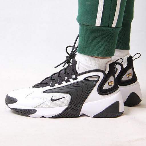 【陸壹捌現貨折後$2580】NIKE Wmns Zoom 2K 白黑 女鞋 復古慢跑鞋 氣墊設計 運動休閒鞋 AO0354-100