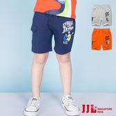 JJLKIDS 男童 滑板男孩印花舒適棉質五分褲(3色)