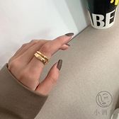 戒指簡約個性時尚女戒指開口波浪指環【小酒窝服饰】
