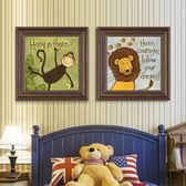 蒙娜麗莎十字繡2018新款線繡客廳臥室可愛動兒童簡約歐式小幅簡單WY【八五折優惠 最後一天】