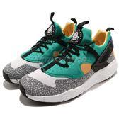 【六折特賣】Nike Air Huarache Utility PRM Safari 蟾蜍紋 休閒鞋 運動鞋 綠 灰 男鞋【PUMP306】 806979-103