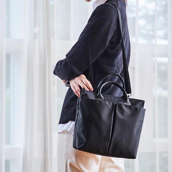 韓國尼龍公事包女職業手提單肩包托特文件包2019新款時尚商務包女  【端午節特惠】