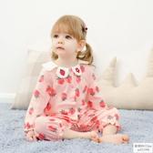 寶寶連身衣秋冬6個月3新生兒衣服嬰幼兒滿月服公主春秋女嬰兒秋裝歐韓時代