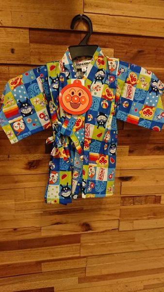 《西松屋》日本帶回【ANPANMAN 麵包超人細菌人祭典款 藍】日本傳統兒童浴衣/甚平/和服