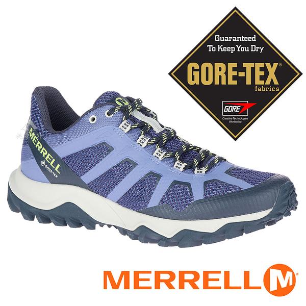 【MERRELL 美國】FIERY 女GORE-TEX多功能健行鞋『藍紫』16602 機能鞋.多功能鞋.休閒鞋.登山鞋
