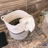 臟衣籃洗衣簍臟衣簍編織臟衣服收納筐可折疊時尚【古怪舍】