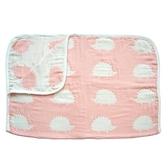 Hoppetta 寶寶棉被(M)-刺蝟粉 0-3歲 | 日本製六層紗-寢具用品(初生嬰幼兒/新生兒/兒童)