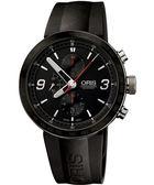 ORIS 豪利時 TT1 陶瓷上圈計時機械手錶-黑/橡膠 0167476594174-0742506
