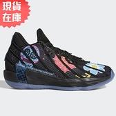 【現貨】ADIDAS DAME 7 DOTD 男鞋 籃球 緩震 襪套 透氣 里拉德 骷髏標誌 黑【運動世界】FZ3189