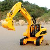 聖誕交換禮物-兒童玩具 大號履帶挖掘機工程車鉤車挖土機鏟土車兒童玩具車模型1-3歲男孩