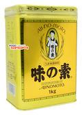 現貨1罐【吉嘉食品】AJINOMOTO 味之素 味精 1000公克,金罐,日本進口 [#1]{4901001000081}