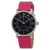 Marc Jacobs Womens Roxy - MJ1535手錶 銀框 桃紅色表帶