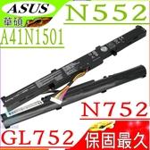 ASUS A41N1501 電池(保固最久)-華碩 N552 電池,N552V,N552VX,N552VW,N752 電池,N752VW,N752VX