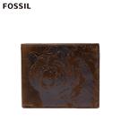 FOSSIL RANGER 棕熊圖騰RFID含零錢匣棕色男夾 ML4160200