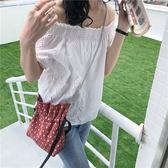 斜背包 點點 抽繩 束口 抓皺 鏈條 單肩包 斜背包 環保購物袋--斜挎/單肩【SPV01】 BOBI  09/13