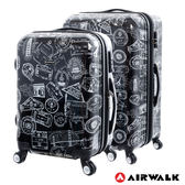 AIRWALK LUGGAGE - 精彩歷程 環郵世界行李箱20+28吋二箱組- 遊玩靚黑