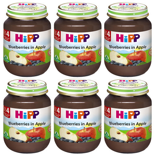 HiPP 喜寶 有機蘋果小藍莓泥125g x6罐