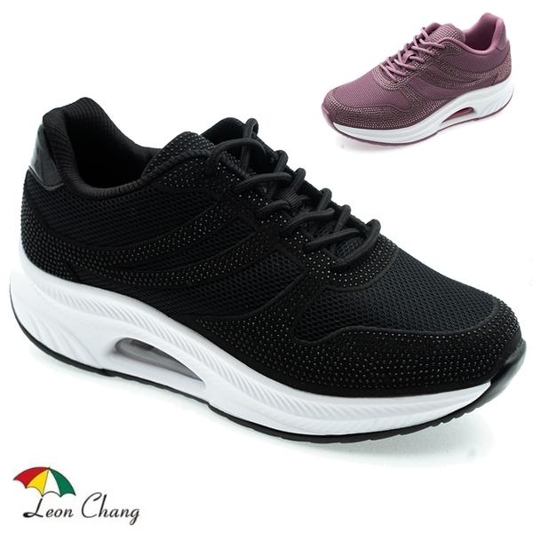 女款 Leon Chang 雨傘牌 7723 閃耀美體氣墊增高運動鞋 氣墊鞋 增高鞋 厚底鞋 健走鞋 休閒鞋 59鞋廊