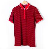 John Duke 經典條紋POLO衫-紅黑