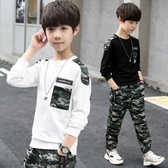 T恤—童裝男童秋裝新款套裝韓版兒童春秋季中大童迷彩男孩帥氣潮衣