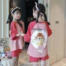 夏季女童睡衣女童長袖棉質卡通公主中大童女孩學生家居服寶寶套裝