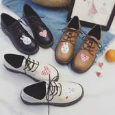 軟妹洛麗塔鞋子可愛小皮鞋百搭原宿平底女鞋【不二雜貨】