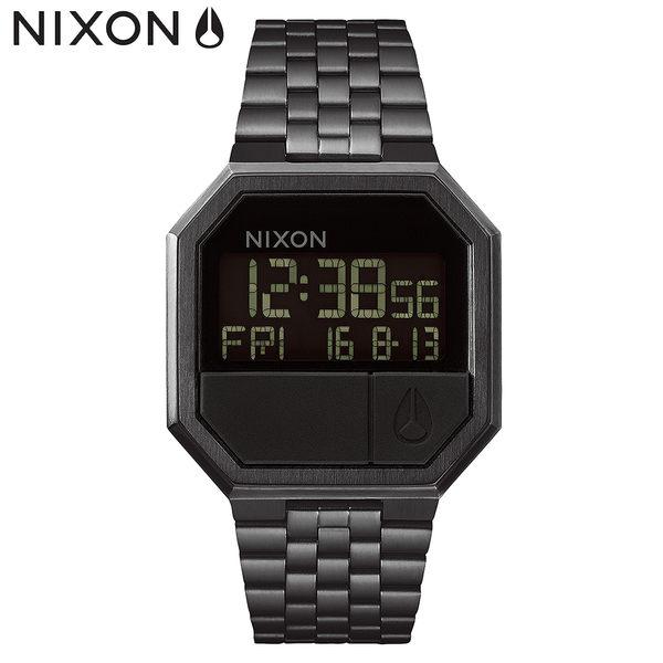 NIXON手錶 原廠總代理 A158-001 THE Re-run 黑色 潮流時尚鋼錶帶 男女適用 運動潛水 生日 情人節禮物