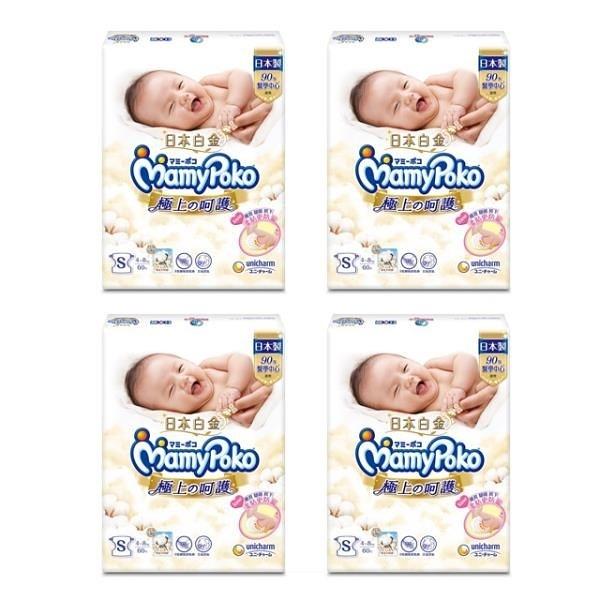 【南紡購物中心】滿意寶寶 極上呵護紙尿褲 S 60片*4包入(箱購)