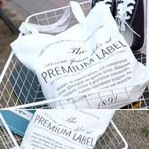 帆布袋 手提包 帆布包 手提袋 環保購物袋--單肩/拉鏈【DE22451】 icoca  08/24