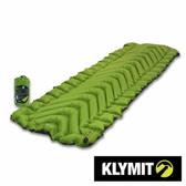 【美國Klymit】STATIC V2 輕量級充氣全身睡墊 -綠/灰 06S2GR02C 吹氣款充氣睡墊 保暖空氣睡墊 露營