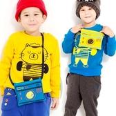 【韓版童裝】彈力不倒絨貓咪相機包刷毛T/保暖衣-黃/藍【BD18121414】