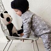 針織寶寶連體衣秋冬雙層加厚棉質長袖6-12個月0嬰兒新生兒哈衣