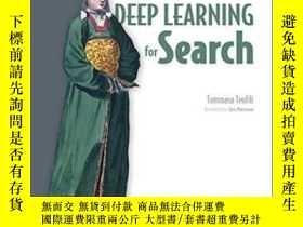 二手書博民逛書店Deep罕見Learning For SearchY364682 Tommaso Teofili Mannin