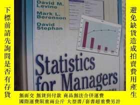 二手書博民逛書店Statistics罕見for Managers Using M