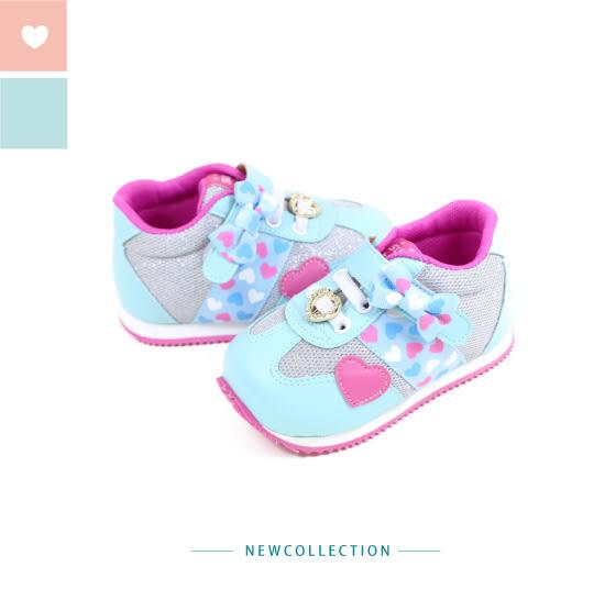 Swan天鵝童鞋-甜美愛心小童機能學步鞋 1566-藍