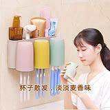 刷牙杯套裝家用一家三口現代簡約衛生間情侶塑料洗漱口杯簌口杯子 新知優品