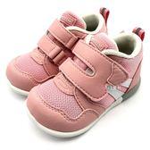 《7+1童鞋》小童 日本月星 MOONSTAR 透氣網布 機能鞋 運動鞋 學步鞋 C457 粉色