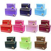 蝴蝶結不織布收納箱 收納盒 扣扣箱 整理箱 大小一套 兩套組 【C012】