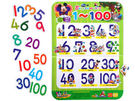 迪士尼沾黏貼遊戲教育掛圖- 1~100阿拉伯數字書寫練習