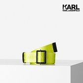 【KARL LAGERFELD】KARL LOGO尼龍腰帶-螢光黃