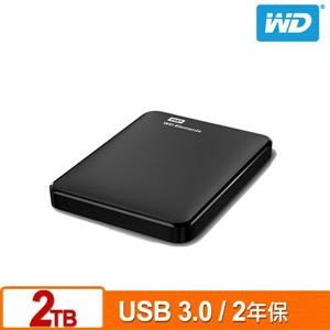 【綠蔭-免運】WD Elements 2TB 2.5吋行動硬碟(WESN)