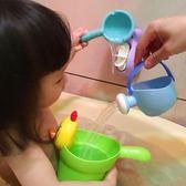 兒童娃娃浴缸洗澡盆游泳玩水套裝  嬰幼兒寶寶小黃鴨洗澡戲水玩具【好康八五折搶購】