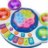 兒童音樂拍拍鼓電子琴嬰兒早教益智玩具KM2874『黑色妹妹』